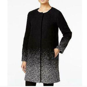 Eileen Fisher Starfall Jacquard Ombre Wool Coat